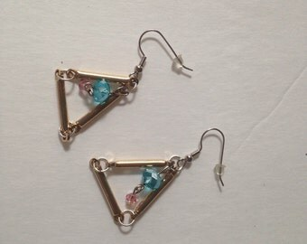 Pyramid earrings.