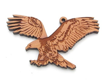 American Bald Eagle Christmas Ornament by Nestled Pines Woodworking