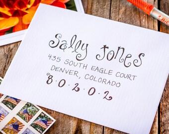 Wedding Invitation Calligraphy - Swirls Font