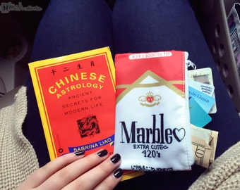 "bag ""smoke break"" 6x3.5 cosmetic, pencil, cigarette pouch"