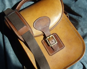 Hardback Satchel, hand stitched, messenger bag, cross body,  full grain veg tan leather,