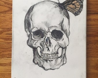 Butterfly and Skull