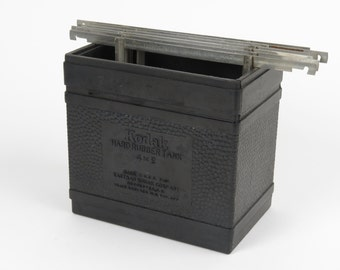 Kodak 4X5 hard rubber tank Eastman + 6 developing hangers 4A film photography