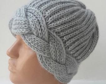 Free Knitting Pattern Mohair Beret : Mohair knit beret Etsy