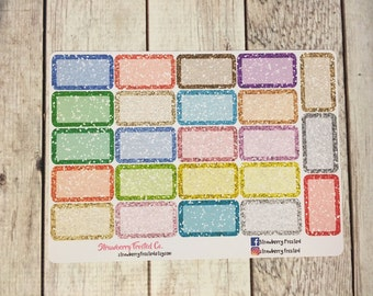 Glitter Half Boxes-----Light-Tones-----  Made to fit Vertical or Horizontal