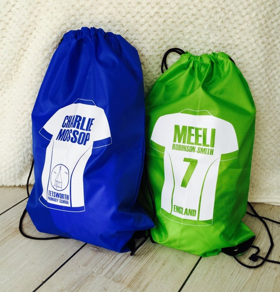 Personalised Gym/Swim drawstring bag (Various Designs & Colours Available)