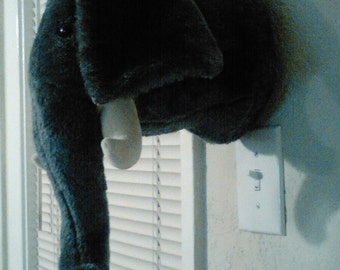 Dianne Shapiro Soft Sculpture Plush Humane Trophy Wall Mount Elephant   Made in the U.S.A.