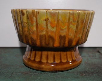 Friendship Pottery Drip Glaze Pot