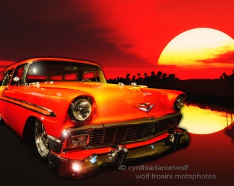 "Chevy Nomad ""Sunset"", Classic Car Print, Car Wall Art, Car Art Print, Car Print, Photography, Prints, Gifts for Him, Wall Art, Home Décor"