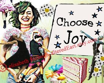 Choose Joy collage, digital download, 5x7