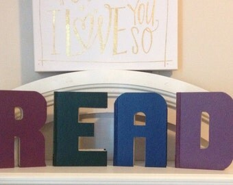Book Letter SOLIDS - Custom UpCycled Vintage Readers Digest - A, B, C, 1, 2, 3