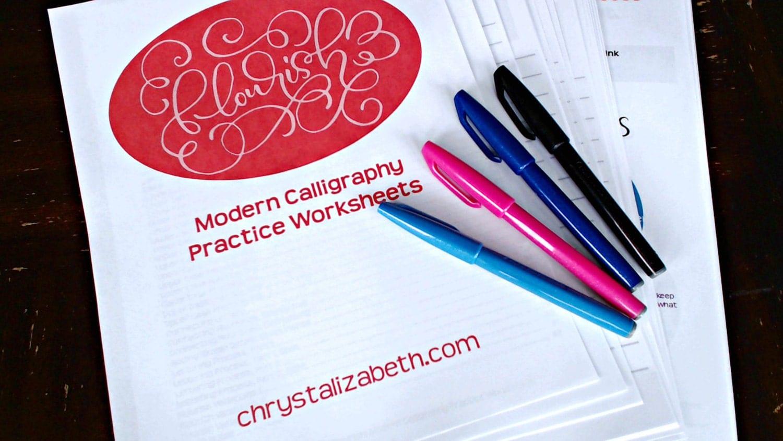 Flourish modern calligraphy practice by chrystalizabeth