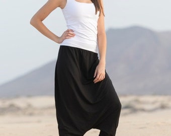 JELLA  harem pants pattern & eBook, sizes 158 – 46 (Kids M – women XL) / Instant Download