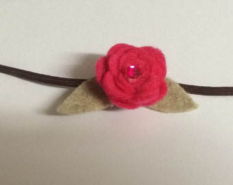 Small Rosette Flower Headband - Photo Prop