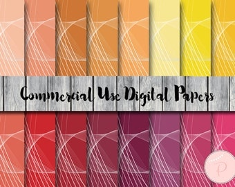 Wave Pattern Digital Papers, Pastel, Rainbow, Colorful, Commercial Use, Abstract Scrapbook Digital Papers, Digital Background, DP125