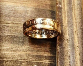 Coin Ring -  Susan B Anthony US Dollar Coin Ring
