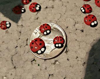 Miniature Ladybugs - Set of 10 -  Custom Sizes!