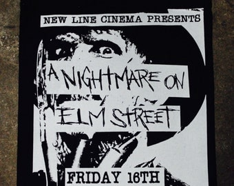 A Nightmare On Elm Street DIY Punk Flyer Tote Bag