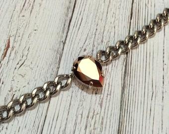 Rose Gold Swarovski Crystal Bracelet
