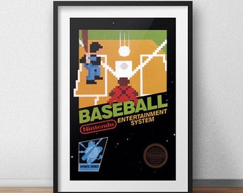 Baseball Original NES Box print