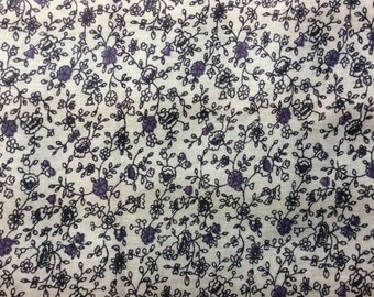 Purple calico print fabric