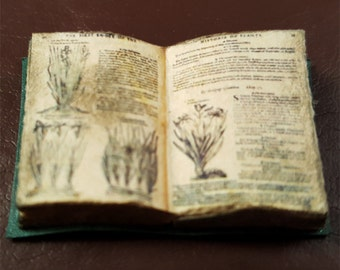 Miniature Book:  The Herball or Generall Historie of Plantes