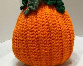 Crochet Pumpkin Potholder, Crochet Halloween Potholder, Autumn Potholder, Crocheted Potholder, Crochet Pumpkin