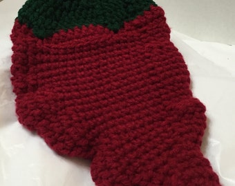 Chili Pepper Pot Holder, Crocheted Pot Holder, Southwest Decor