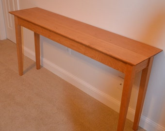 Solid Cherry Shaker Console Table