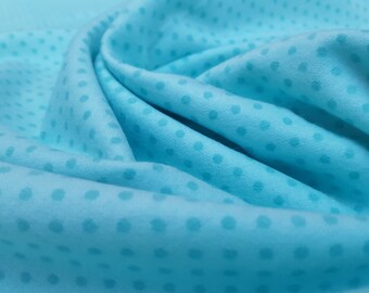 Brushed Cotton/Flannel Fabric: Turquoise Spot