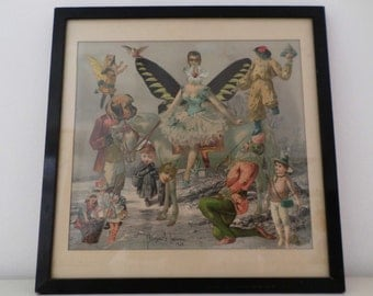 Charming neo-Victorian surreal pop collage