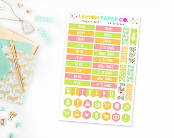 Oh, Flamingo! // Headers (Planner Stickers for Erin Condren Vertical and MAMBI The Happy Planner)