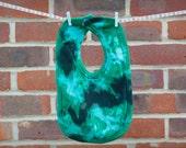 Green Cotton Bib - Hand D...