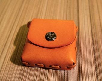 Handmade leather belt pouch