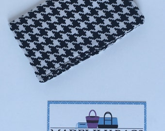 Credit Card,Business Card, Gift Card Holder, black and white houndstooth