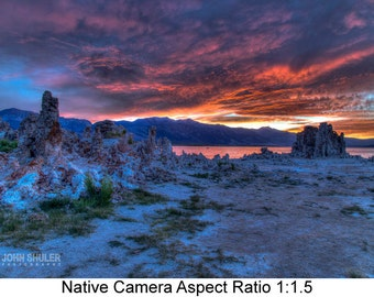Mono Lake Sunset: Landscape art photography prints for home or office wall decor.