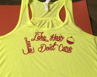 Lake Hair Dont Care tank