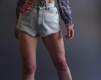 Vintage Lee Acid Wash Short Shorts