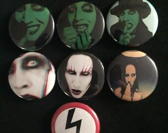"Marilyn Manson 1"" Button"