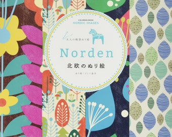 NORDEN Coloring Book NORDIC IMAGES For Adult By Jimmy Mashiko
