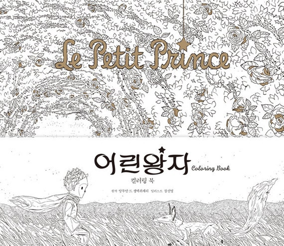 Items Similar To Little Prince Coloring Book For Adult Story Colouring