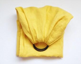 Ring sling || mustard.