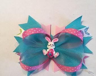 Easter Bunny Hair Bow