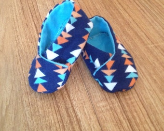 Colorful triangle modern Kimono booties