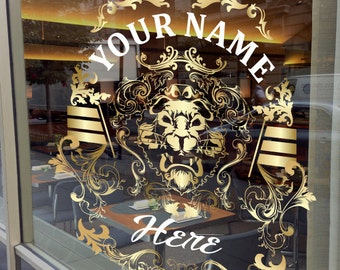 Gold Custom Window Decal