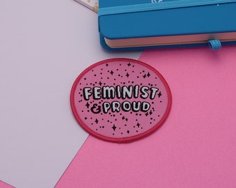 Feminist & Proud Iron On Patch // Feminist patch, Feminism, Girl Power, Girl Gang // PT002