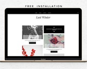 Responsive Premade Blogger template + Twitter & Instagram feed - Free Installation - Minimalist Last Winter - Minimalist Last Winter