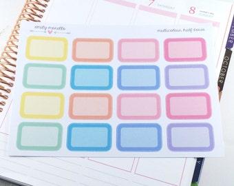 Multicolour Half Box Glossy Stickers for EC Life Planner