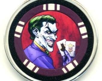 Joker poker chip card guard - card protector