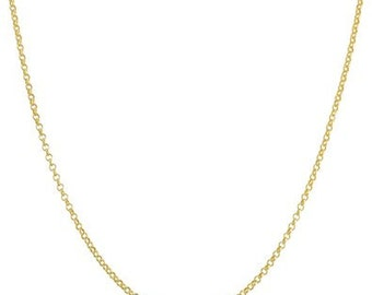 1.9 mm 14 Karat Gold Rolo Chain Add On for Pendants